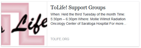To Life! Support Group Meetings