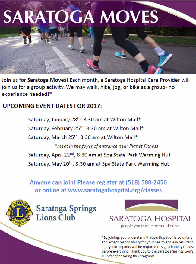 Saratoga Moves Flyer